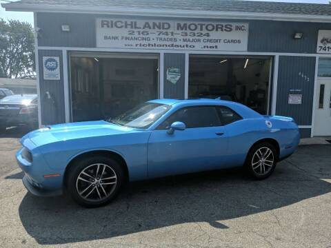 2019 Dodge Challenger for sale at Richland Motors in Cleveland OH