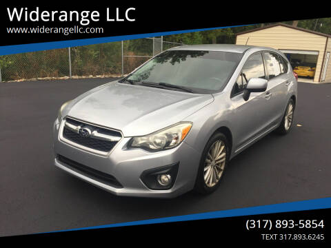 2012 Subaru Impreza for sale at Widerange LLC in Greenwood IN