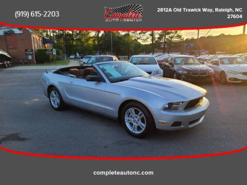 2010 Ford Mustang for sale at Complete Auto Center , Inc in Raleigh NC