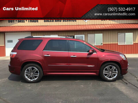 2011 GMC Acadia for sale at Cars Unlimited in Marshall MN