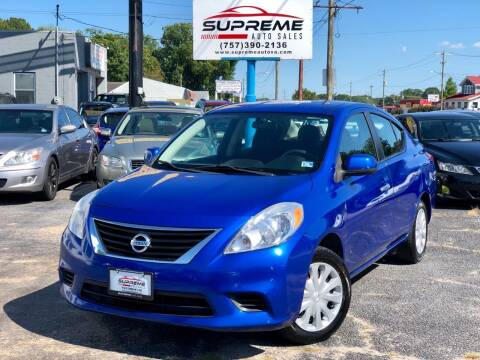 2013 Nissan Versa for sale at Supreme Auto Sales in Chesapeake VA