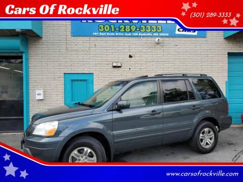 2005 Honda Pilot for sale at Cars Of Rockville in Rockville MD