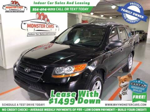 2009 Hyundai Santa Fe for sale at Monster Cars LLC - Lease Vehicles in Pompano Beach FL
