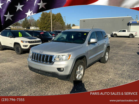 2012 Jeep Grand Cherokee for sale at Paris Auto Sales & Service in Big Rapids MI