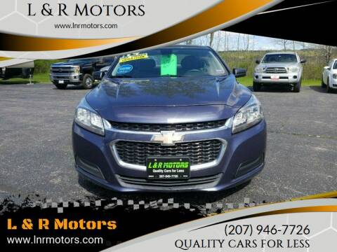 2014 Chevrolet Malibu for sale at L & R Motors in Greene ME