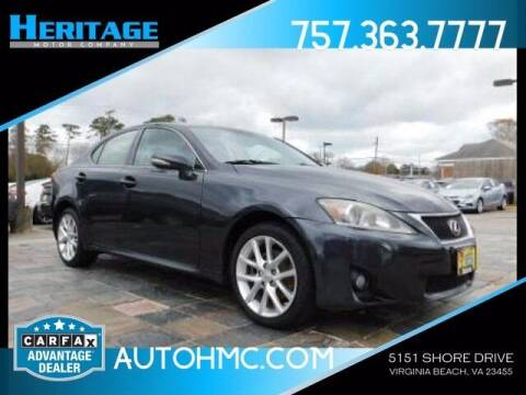 2011 Lexus IS 250 for sale at Heritage Motor Company in Virginia Beach VA