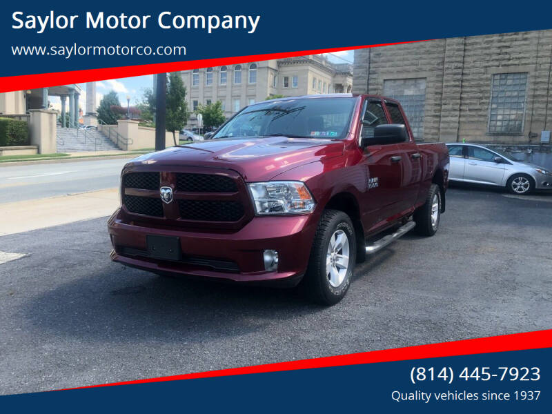 2017 RAM Ram Pickup 1500 for sale at Saylor Motor Company in Somerset PA