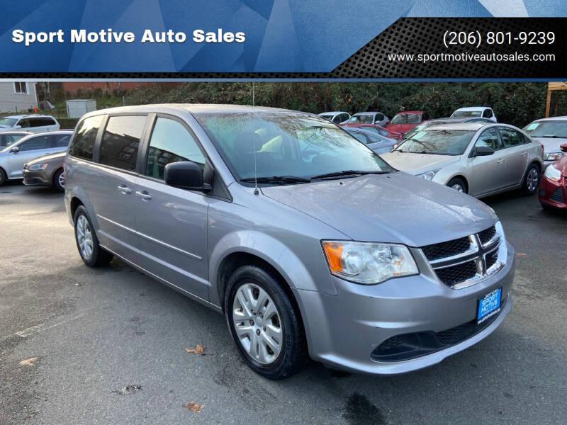 2016 Dodge Grand Caravan for sale at Sport Motive Auto Sales in Seattle WA