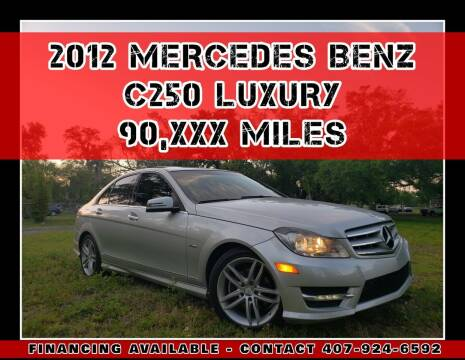 2012 Mercedes-Benz C-Class for sale at AFFORDABLE ONE LLC in Orlando FL