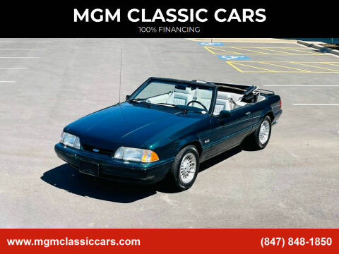 1990 Ford Mustang for sale at MGM CLASSIC CARS in Addison IL