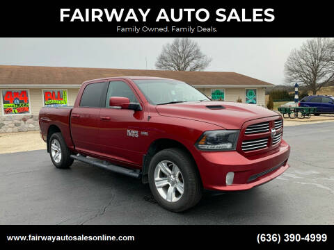 2015 RAM Ram Pickup 1500 for sale at FAIRWAY AUTO SALES in Washington MO