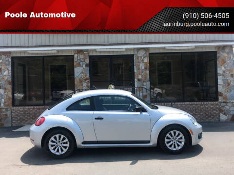 2014 Volkswagen Beetle for sale at Poole Automotive in Laurinburg NC
