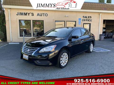 2013 Nissan Sentra for sale at JIMMY'S AUTO WHOLESALE in Brentwood CA