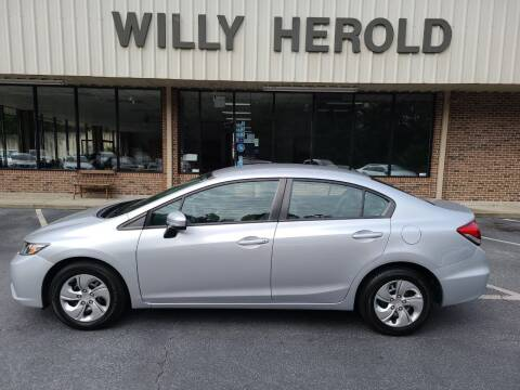 2015 Honda Civic for sale at Willy Herold Automotive in Columbus GA
