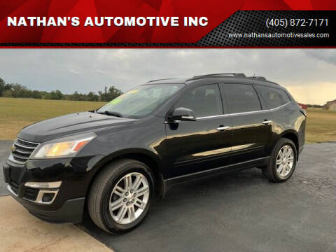 2013 Chevrolet Traverse for sale at NATHAN'S AUTOMOTIVE INC in Noble OK