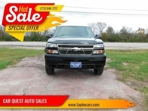 2004 Chevrolet Silverado 2500HD for sale at CAR QUEST AUTO SALES in Houston TX