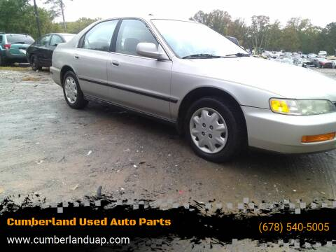 1997 Honda Accord for sale at Cumberland Used Auto Parts in Marietta GA