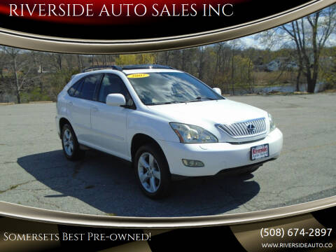2007 Lexus RX 350 for sale at RIVERSIDE AUTO SALES INC in Somerset MA