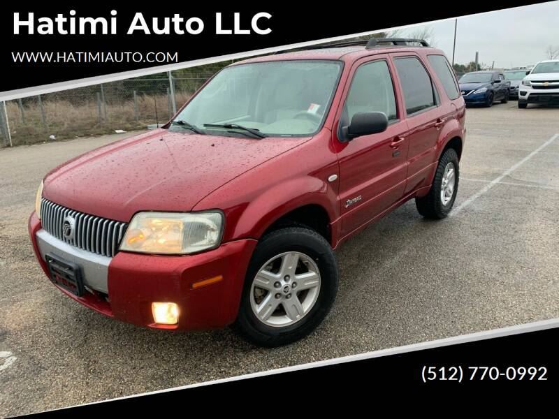 2006 Mercury Mariner Hybrid for sale at Hatimi Auto LLC in Buda TX