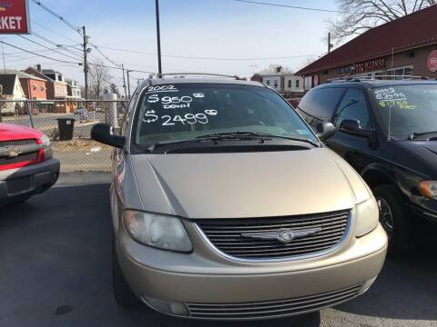 2002 Chrysler Town and Country for sale at Chambers Auto Sales LLC in Trenton NJ