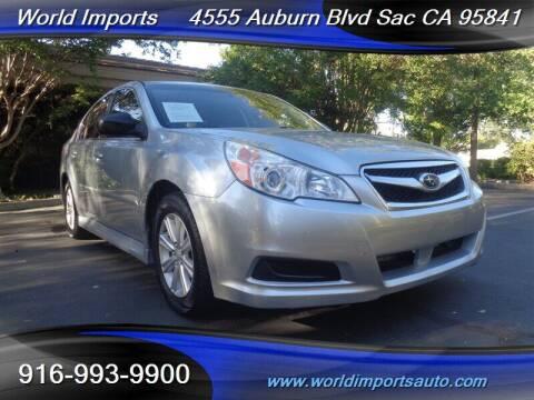 2012 Subaru Legacy for sale at World Imports in Sacramento CA