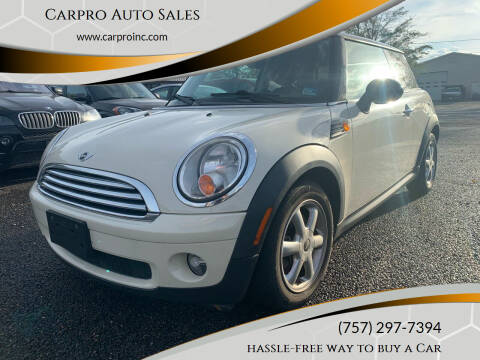 2010 MINI Cooper for sale at Carpro Auto Sales in Chesapeake VA
