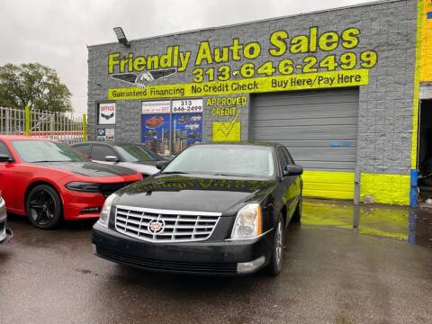 2011 Cadillac DTS for sale at Friendly Auto Sales in Detroit MI