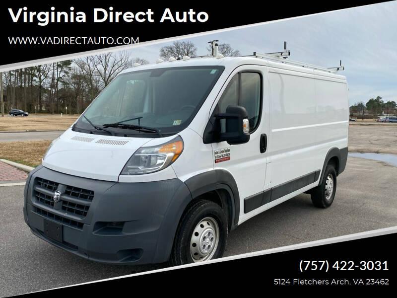 2015 RAM ProMaster Cargo for sale at Virginia Direct Auto in Virginia Beach VA