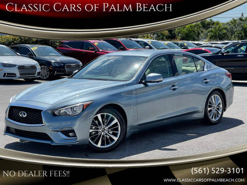 2018 Infiniti Q50 for sale at Classic Cars of Palm Beach in Jupiter FL