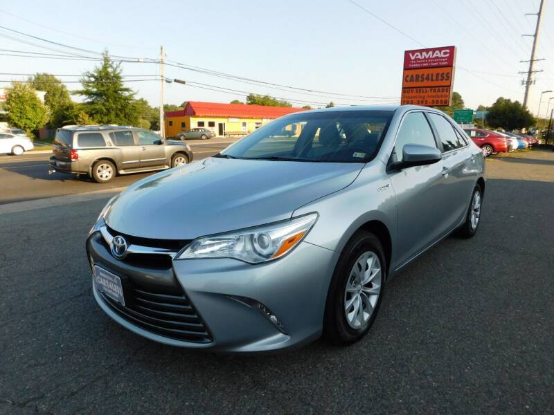 2016 Toyota Camry Hybrid for sale at Cars 4 Less in Manassas VA