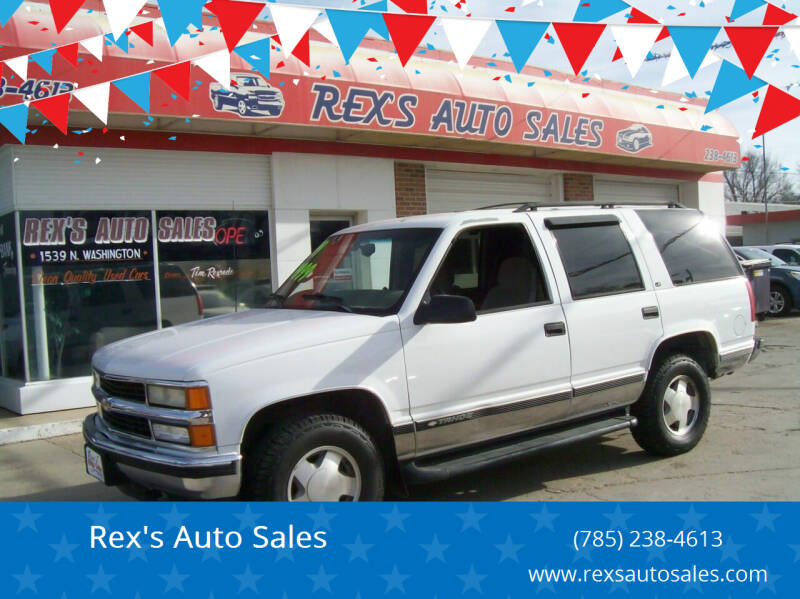 1999 Chevrolet Tahoe for sale at Rex's Auto Sales in Junction City KS