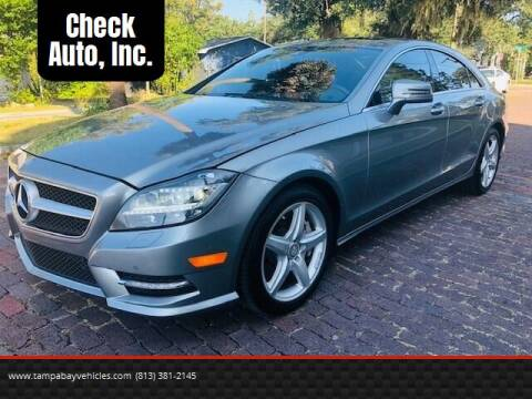 2013 Mercedes-Benz CLS for sale at CHECK  AUTO INC. in Tampa FL