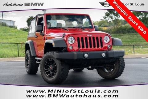 2014 Jeep Wrangler for sale at Autohaus Group of St. Louis MO - 3015 South Hanley Road Lot in Saint Louis MO