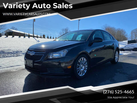 2012 Chevrolet Cruze for sale at Variety Auto Sales in Abingdon VA