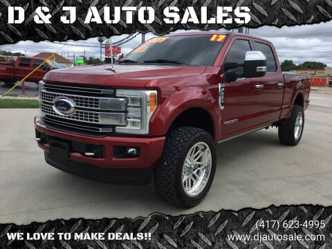 2017 Ford F-250 Super Duty for sale at D & J AUTO SALES in Joplin MO