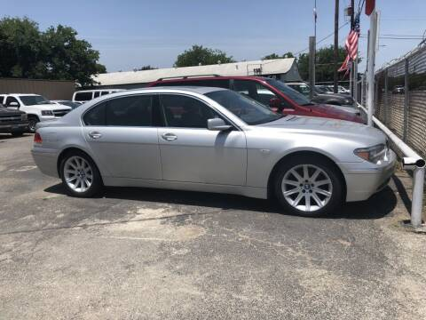 2005 BMW 7 Series for sale at C&R  MOTORS in San Antonio TX