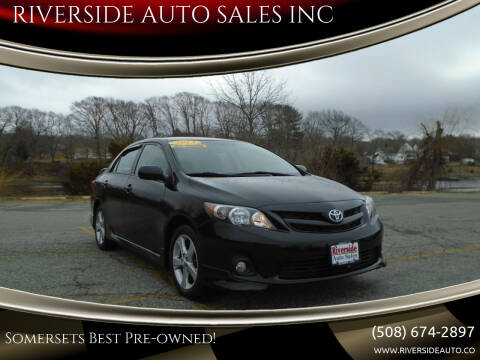 2013 Toyota Corolla for sale at RIVERSIDE AUTO SALES INC in Somerset MA