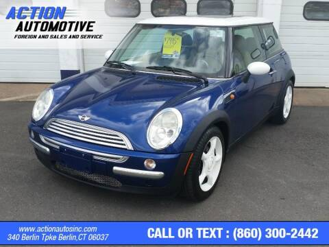2002 MINI Cooper for sale at Action Automotive Inc in Berlin CT