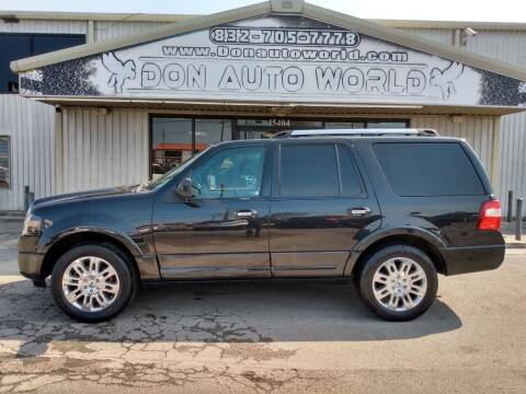 2012 Ford Expedition for sale at Don Auto World in Houston TX