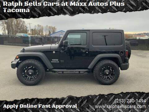 2016 Jeep Wrangler for sale at Ralph Sells Cars at Maxx Autos Plus Tacoma in Tacoma WA