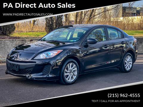 2013 Mazda MAZDA3 for sale at PA Direct Auto Sales in Levittown PA