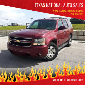2007 Chevrolet Tahoe for sale at Texas National Auto Sales in San Antonio TX