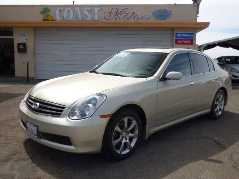 2005 Infiniti G35 for sale at Coast Motors in Arroyo Grande CA