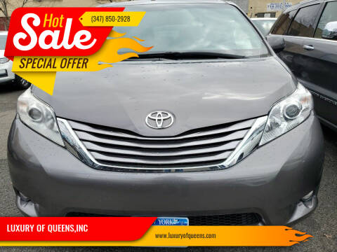 2017 Toyota Sienna for sale at LUXURY OF QUEENS,INC in Long Island City NY