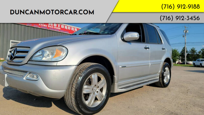 2005 Mercedes-Benz M-Class for sale at DuncanMotorcar.com in Buffalo NY