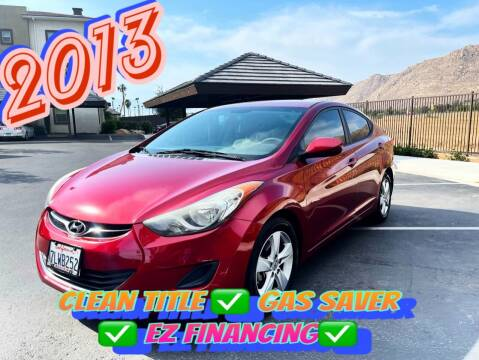 2013 Hyundai Elantra for sale at BILLY D SELLS CARS! in Temecula CA