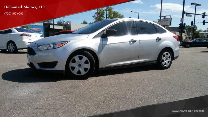 2016 Ford Focus for sale at Unlimited Motors, LLC in Denver CO