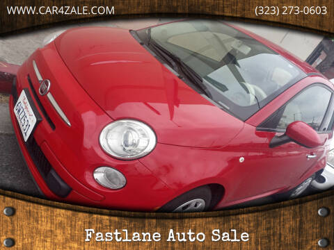 2012 FIAT 500 for sale at Fastlane Auto Sale in Los Angeles CA