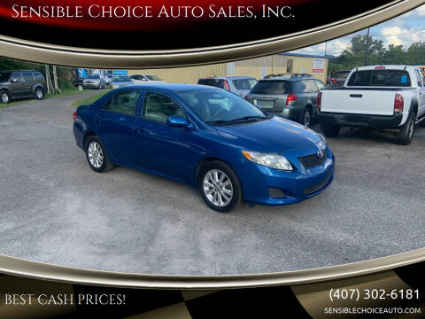 2009 Toyota Corolla for sale at Sensible Choice Auto Sales, Inc. in Longwood FL