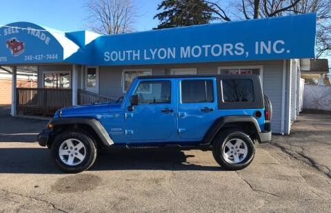 2010 Jeep Wrangler Unlimited for sale at South Lyon Motors INC in South Lyon MI